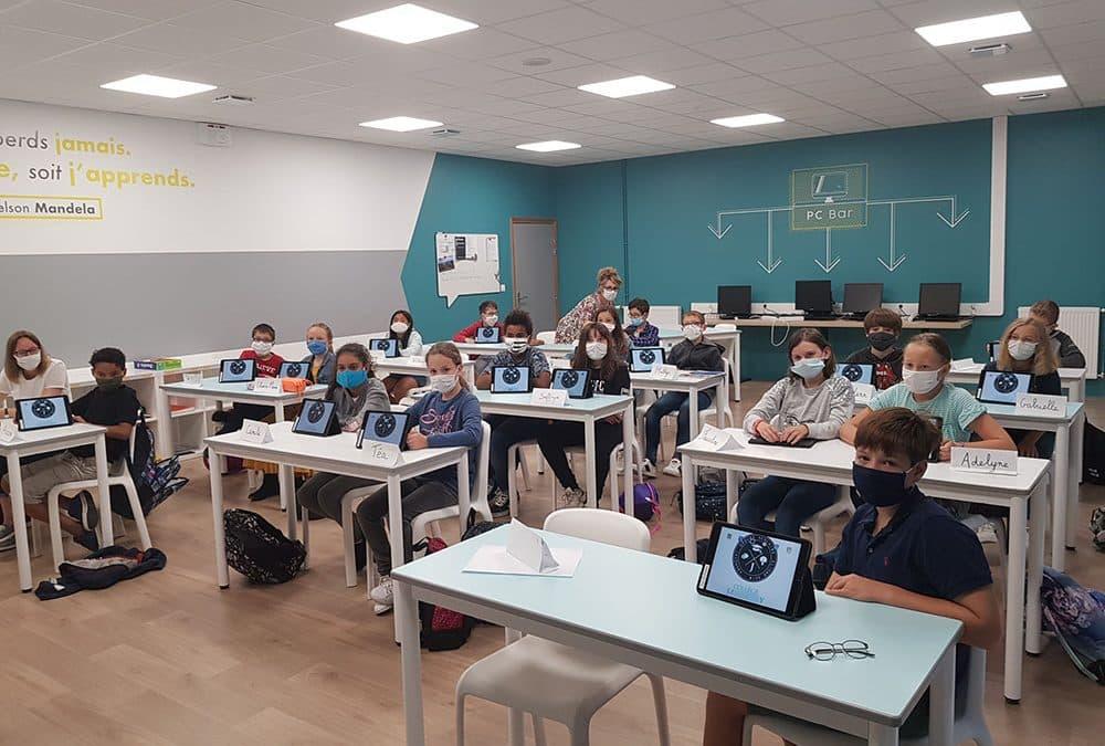Classe connectée en 6ème au collège Javouhey