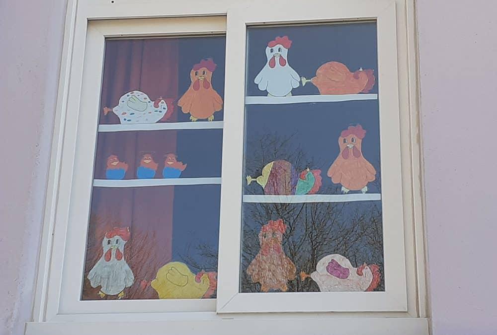 Décorations de Pâques dans l'école !