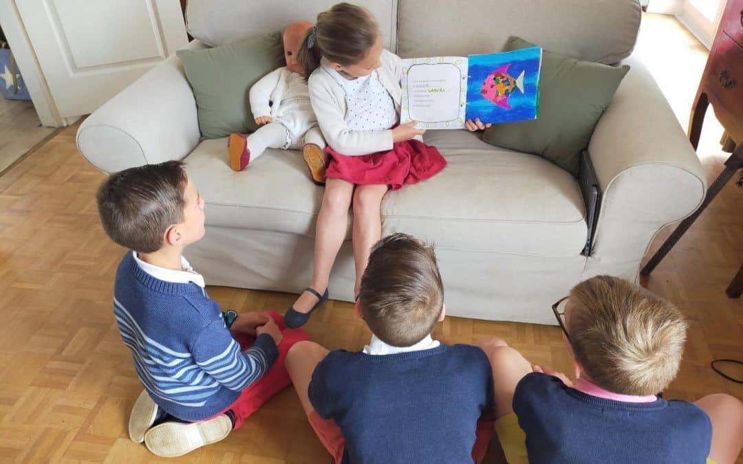 Les élèves de grande section apprentis lecteurs…