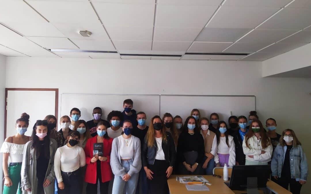 Première expérience pour les étudiants de communication du Sup'Javouhey !